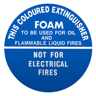 fire extinguisher foam is used for oil and liquid fires