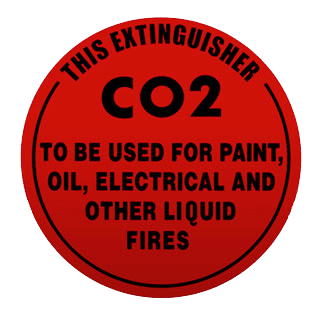 fire extinguisher co2 is used for paint and electrical fires